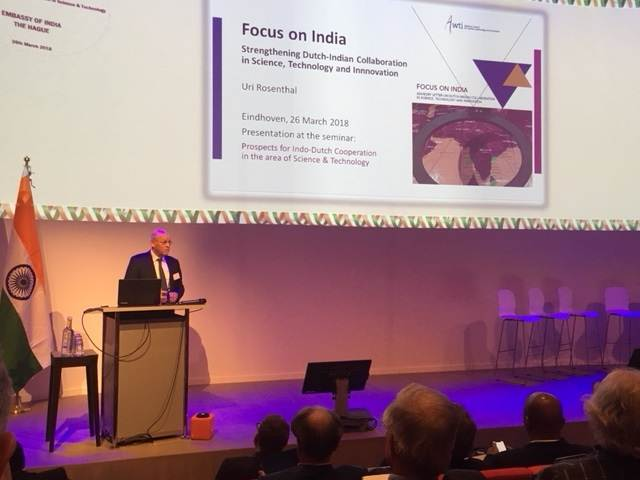 Presentatie Focus on India voorzitter AWTI Uri Rosenthal